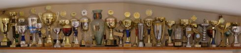 Some of trophys won by Alek Dernbach and Joanna and Tomasz Królikowski